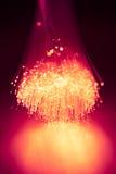 Fond de lumière d'optique des fibres Image stock