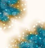 Fond de lumière de Noël avec les brindilles réalistes de sapin illustration stock