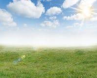 Fond de lumière du soleil de ressort Images stock