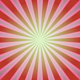 Fond de lumière du soleil Rétro fond d'éclat de couleur rouge et verte Illustration de vecteur d'imagination illustration stock