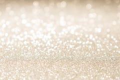 Fond de lumières de cru de scintillement d'or de Noël images libres de droits