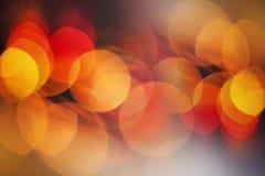 Fond de lumières de scintillement de rouge et de jaune Photo stock