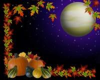 Fond de lune de moisson d'automne illustration de vecteur