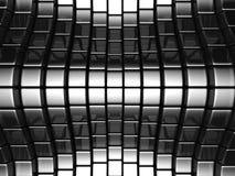 Fond de luxe abstrait argenté en métal Images libres de droits
