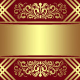 Fond de luxe avec les frontières et le ruban royaux Image libre de droits