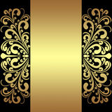 Fond de luxe avec les frontières et le ruban royaux d'or. illustration stock