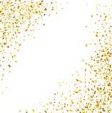 Fond de luxe de célébrations avec les morceaux en baisse de scintillement métallique et de confettis d'or illustration de vecteur