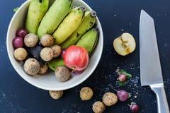 Fond de luxe de nourriture Fruits de photographie de nourriture différents copie Images libres de droits