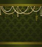 Fond de luxe de tapisserie de cru. Photos libres de droits