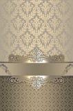Fond de luxe de vintage avec les modèles décoratifs Image libre de droits