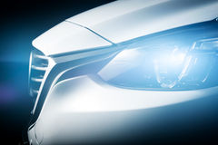 Fond de luxe moderne de plan rapproché de voiture Photos stock