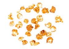 Fond de maïs éclaté de caramel Image stock