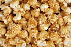 Fond de maïs éclaté de sucrerie de caramel Images libres de droits