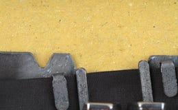 Fond de machine à écrire et de papier Photographie stock