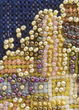 Fond de macro de broderie de perle Image libre de droits