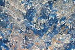 Fond de macro de glace image libre de droits