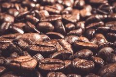 Fond de macro rôti de contexte de nourriture de graines de café Photographie stock