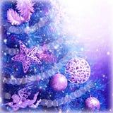 Fond de magie d'arbre de Noël Images libres de droits