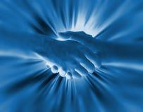Fond de main de secousse Images libres de droits
