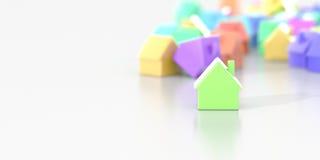 Fond de maisons infini Images stock