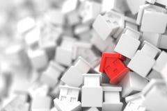 Fond de maisons infini Photographie stock libre de droits
