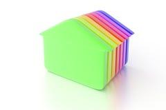 Fond de maisons vert Photos libres de droits