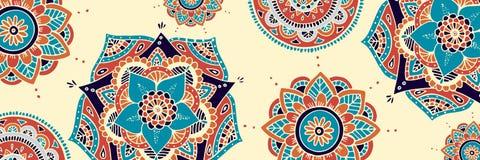 Fond de Mandala Diwali Designs, panorsamic Photographie stock