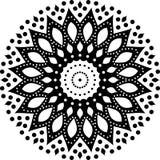 Fond de mandala et conception noirs et blancs de papier peint images libres de droits
