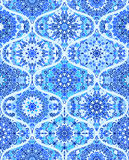 Fond de Mandala Tile Pattern Ogee Blue Image stock