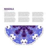 Fond de mandala de vecteur illustration stock