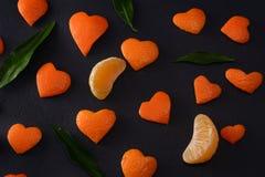 Fond de mandarine de fruit images stock