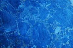 Fond de marbre bleu de texture Image libre de droits