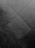 Fond de marbre noir de mur Images libres de droits