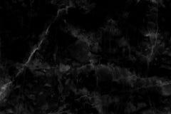 Fond de marbre noir de texture avec lumineux de structure détaillée et luxueux de haute résolution Image stock