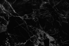 Fond de marbre noir de texture, modèle en pierre noir de plancher avec la haute résolution Photos stock