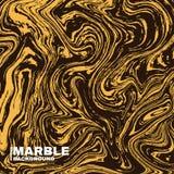 Fond de marbre de texture Jaune-foncé et fluide colore le fond Éclaboussure abstraite à la mode de peinture Image libre de droits