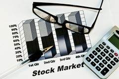Fond de marché boursier photo stock