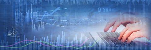 Fond de marché boursier d'affaires image libre de droits