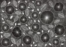 Fond de marguerites blanc abstrait et noir illustration libre de droits