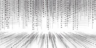 Fond de matrice de technologie de code binaire de données numériques, code binaire futuriste de conectivity d'inondation de donné illustration de vecteur