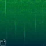 Fond de Matrix avec les symboles verts illustration libre de droits