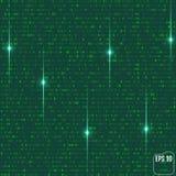 Fond de Matrix avec les symboles verts illustration de vecteur