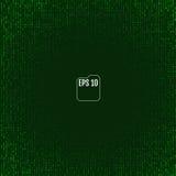 Fond de Matrix avec les symboles verts Vecteur illustration libre de droits