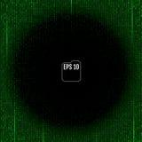 Fond de Matrix avec les symboles verts Vecteur illustration de vecteur