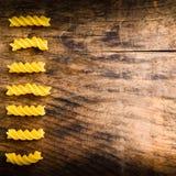 Fond de menu avec des pâtes Photographie stock libre de droits