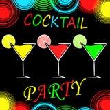 Fond de menu de conception de cocktail Photographie stock libre de droits