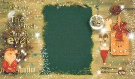 Fond de menu de Noël et message de vacances photos libres de droits