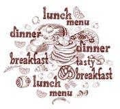 Fond de menu de restaurants illustration libre de droits