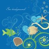 Fond de mer Image stock