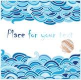 Fond de mer avec la coquille de coque illustration stock